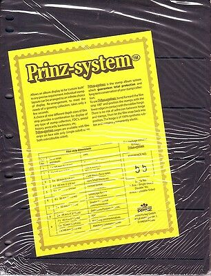 10  Prinz System 5  strip double sided Pages stock sheet