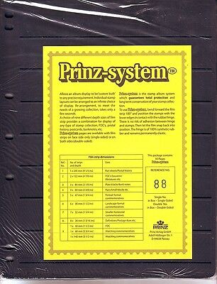 10  Prinz System 8  strip double sided Pages stock sheet