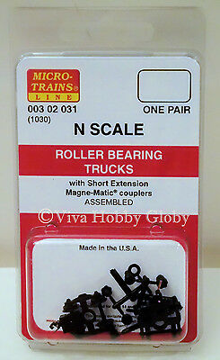 Micro-Trains N Scale Coupler Conversion Kit #1030-S Trucks with couplers mounted
