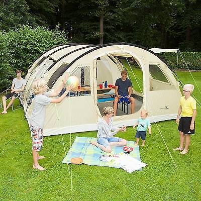 SKANDIKA GOTLAND 6 PERS. TENTE CAMPING TUNNEL FAMILIALE *540x450CM* SABLE NEUF
