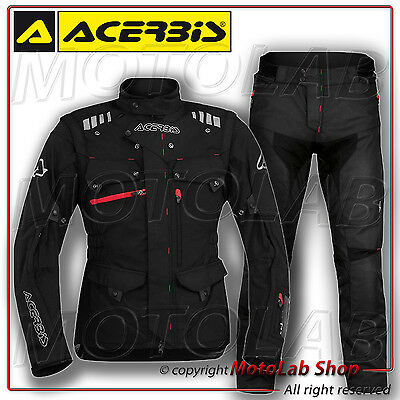 Kit Acerbis Adventure Off-Road Enduro Noir Veste Taille Xl Pantalon Taille 50