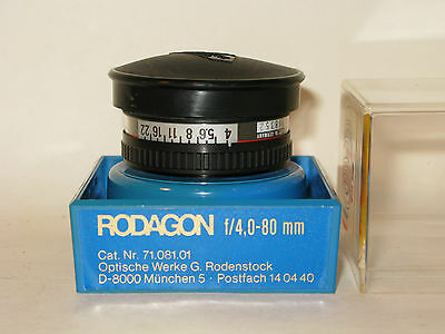 rodenstock radogon f 4 80 mm 39m screw lens in original keeper near mint