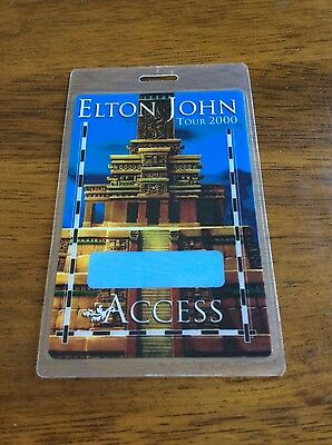 Elton John Tour 2000 all Access laminated Backstage Pass