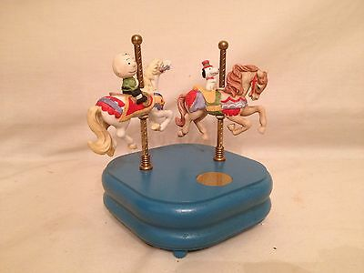 Music Box Peanuts Playland Carousel Willits Charlie Brown Snoopy Vintage 1960's