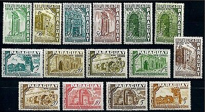 PARAGUAY 1955 MiNr 730 - 744 ** MNH POSTFRISCH CHURGES UPU RODRIGUES FLUGPOST
