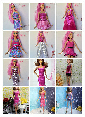 35 PCS Mix Fashion Style cute Handmade clothes&shoes&hangers For Barbie Doll