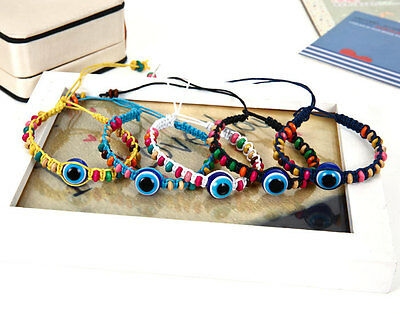Fashion Hand-woven Blue eyes Evil eye ward off bad luck Friendship bracelet