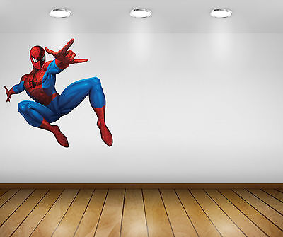 Large Big AMAZING SPIDERMAN Wall Stickers Boys Kids Bedroom Wallpaper Decal