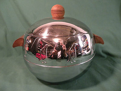 Vintage Mid-Century West Bend Chrome Penguin Ice Bucket, Hot and Cold Server