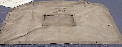Vintage Military Canvasse Rear M32 A2 2.5 & 5 Ton Truck Curtian Collectible