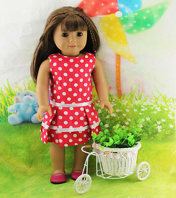 Hotsell Handmade Dot dress clothes for 18 inch American Girl Doll b62
