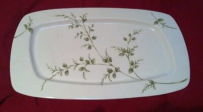 Partylite Herbal Spring Leaf Candle Holder Tray