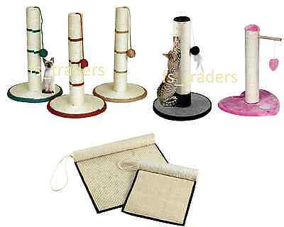 Kitten Cat Scratcher Scratching Post Sisal Climbing Toy Activity Scratch N Roll