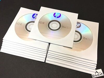 15-Pack HP 16X Logo Blank DVD-R Recordable Disc Media 4.7GB with Paper Sleeve