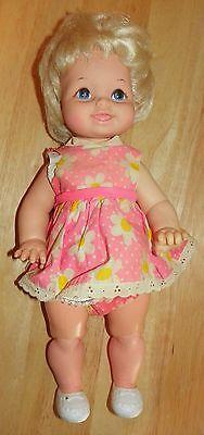 Vintage 1967 Mattel Tippee Toes Pink Dress with Instructions WORKS!