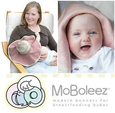 MOBOLEEZ Breastfeeding Nursing Privacy Cover Baby Hat Soft Bamboo Cotton Pink