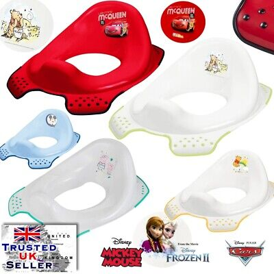 Baby Toilet Seat Child Toddler Trainer Training FROZEN CARS MICKEY MINNIE HIPPO