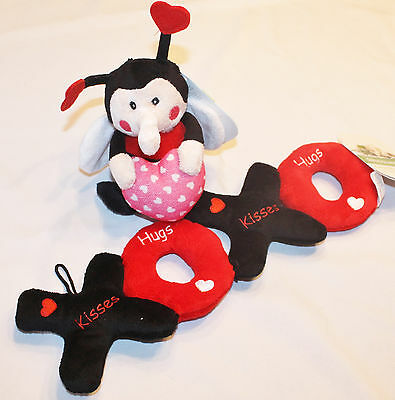Valentine Dog Toy 2 Cupid XOXO Plush PETCO Furry Friend Snuggling New with Tags