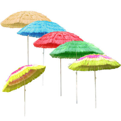 Hawaiian Parasol Beach Garden Patio Sunshade Sun Umbrella Outdoor Tilting