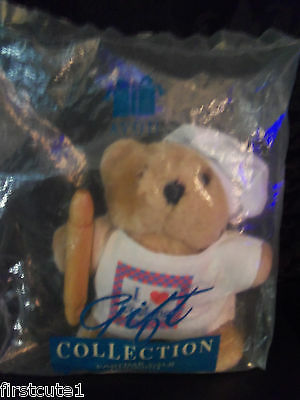 AVON GIFT COLLECTION PASTIME PALS COOKING TAN BROWN TEDDY BEAR