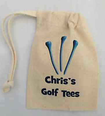 Golf Tee Bag - Blue Tees PERSONALISED WITH ANY NAME