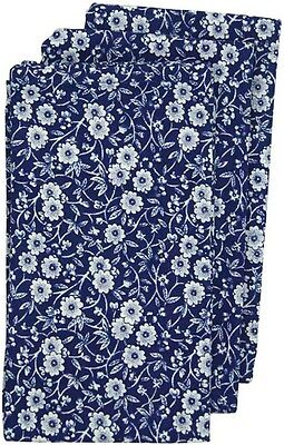 BURLEIGH CALICO BLUE TEA TOWELS (SET OF 3) - BRAND NEW IN PACKET