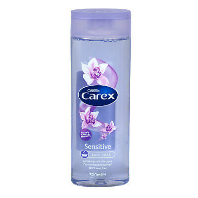 ** 2 X CAREX SENSITIVE BATH FOAM WASH 500ml EACH CUSSONS  NEW **