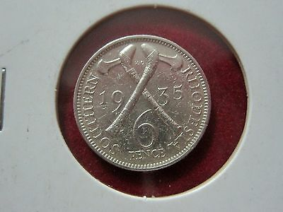 Southern Rhodesia 6 Pence, 1935, Km#2 - (Ref:G7#27)