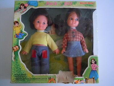 "SUPER RARE Vintage 1960's Jack And Jill Dolls By ""Blue Box"" HONG KONG.MINT DOLLS"