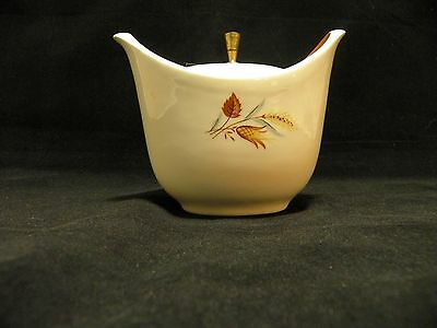 Taylor Smith and Taylor Sugar Bowl with Lid Autumn Harvest Winter White