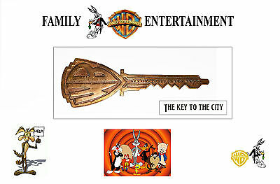 """Vintage Warner Brothers 1950's Collectible Large Bronze Key to the Studio, 11x4"""""""