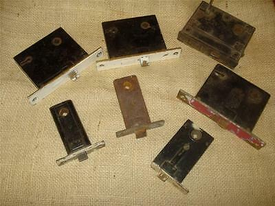 Antique 7 Box Locks And Key Brass / Copper Norwich Sargent & Co.