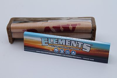 Raw King Size Roller With Element King Size Rolling Paper