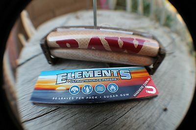 ELEMENTS classic 1 1/4  Rolling Papers+ raw 79mm RAW ROLLER