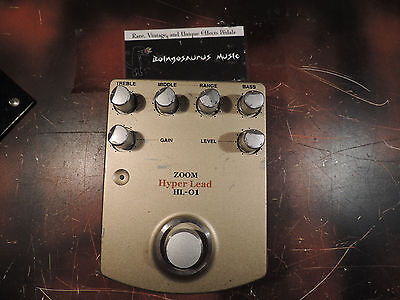RARE ZOOM HYPER LEAD HL-01 DISTORTION EFFECTS PEDAL FREE SHIPPING