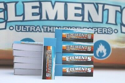Elements Rolling Paper Tips Chemical FREE 10 packs (50 per pack)