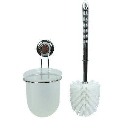 New Toilet Brush With Strong Vacuum Suction Cup Wall Holder Toilet Bowl Cleaner