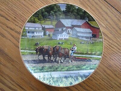 """Danbury Mint William Breedon """"While the Sun Shines""""Collector Plate - 8"""""""