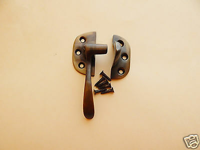 Ice Box Latch Cast Brass Antiqued LH