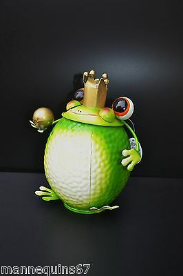 Grenouille Metal Design Poubelle De Table Decoration  Maison Collection Cadeau