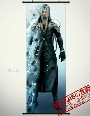 Home Decor Japanese Anime Wall poster Scroll Final Fantasy VII Sephiroth New