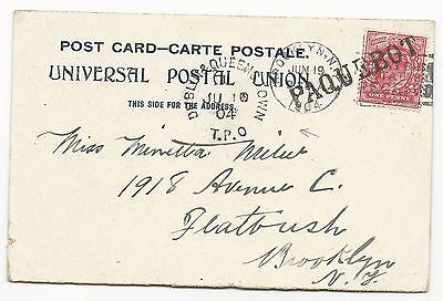 Great Britain Scott #128 on Post Card Statue of Liberty Upper New York Bay 1904