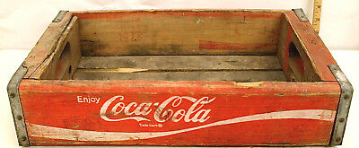 Vintage Coca-Cola Wooden Carrier Box Red White Letters Temple Chattanooga 1978