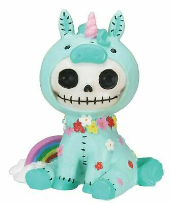 Unie Unicorn and Rainbow Mini Skull Furrybones Home Decorative Figurine Statue