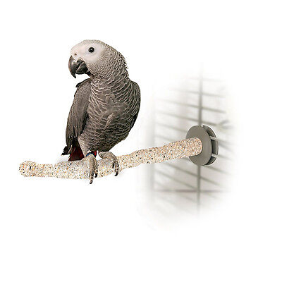 Parrot Perch Pet Bird Sanded Thermal Heated Cage Grooming Perch