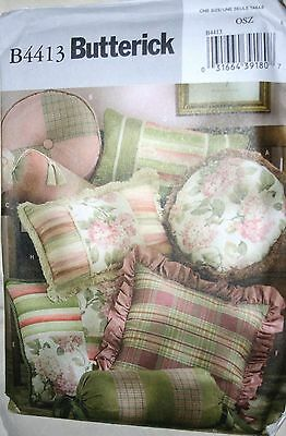 PATTERN Butterick #4413 MANY PILLOWS! square round rectangular rolls