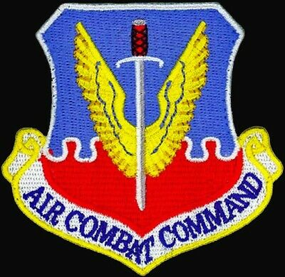 AUTHENTIC AIR FORCE - AIR COMBAT COMMAND - USAF PATCH on Hook & Loop - MINT