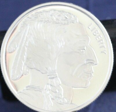 1  Troy Ounce Silver Buffalo Rounds .999 Fine