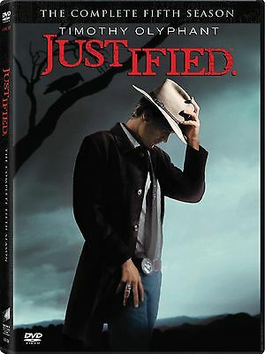 Justified: The Complete Fifth Season (DVD, 2014, 3-Disc Set) New & Sealed
