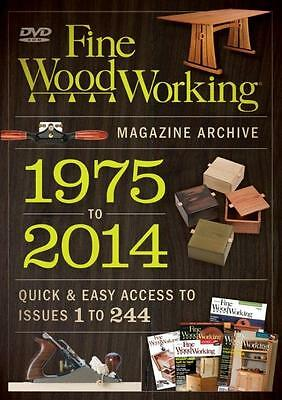 Taunton 1975-2014 Fine Woodworking Magazine DVD Archive. Power Tools, Hand Tools